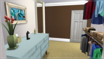 Walk-through Closet looking at bathroom door