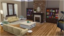 Living room from back door